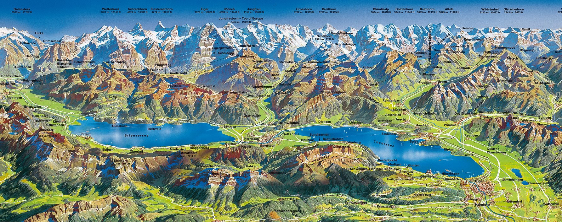 Bernese Oberland map